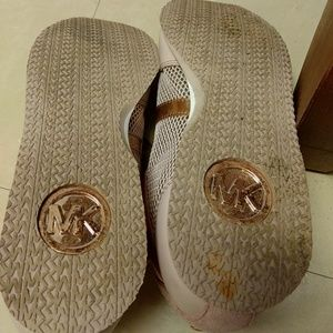 Michael Kors Shoes - MICHAEL KORS Rose Pink Shoes with Gold Trim